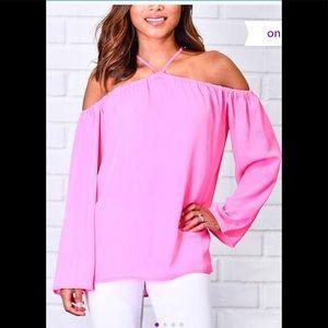 Pink Off-Shoulder Top - Women